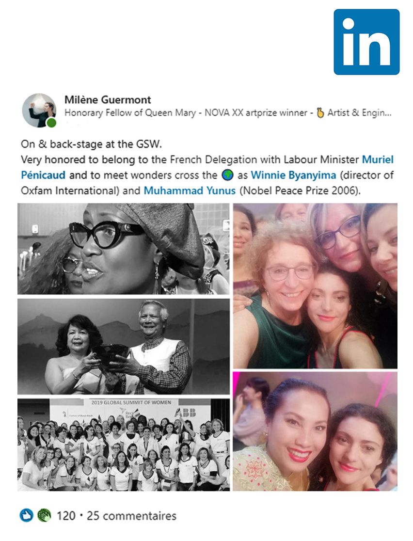 Milene belongs to the French Delegation of the GSW