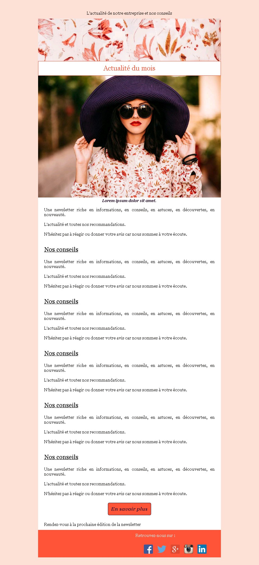 Newsletter sobre avec edito