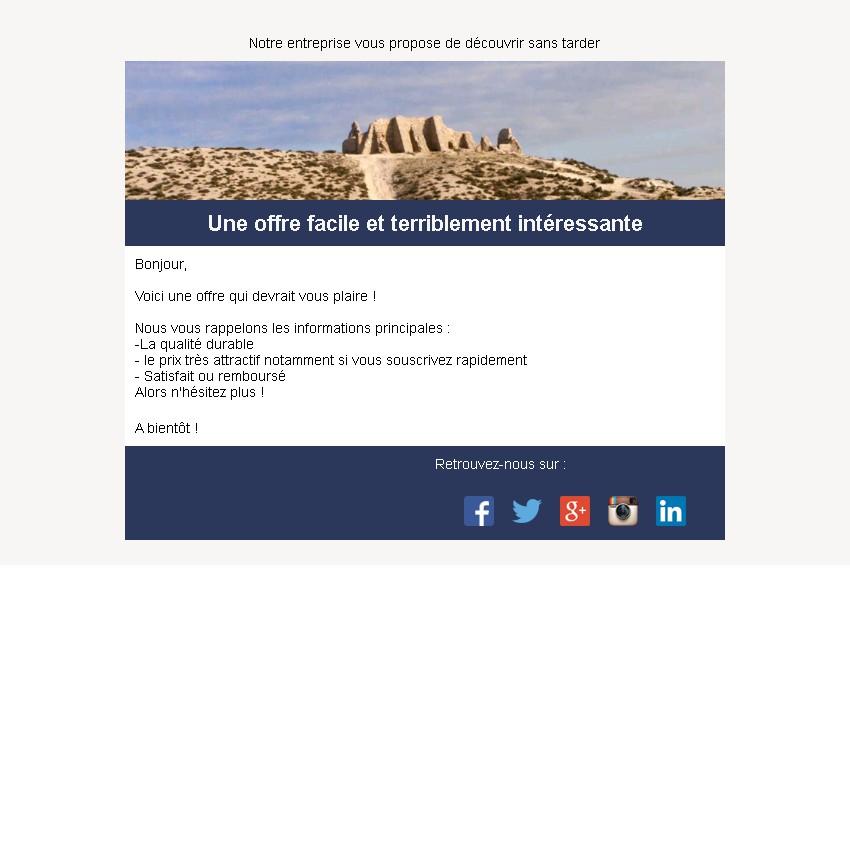 Emailing d'annonce et de promotion