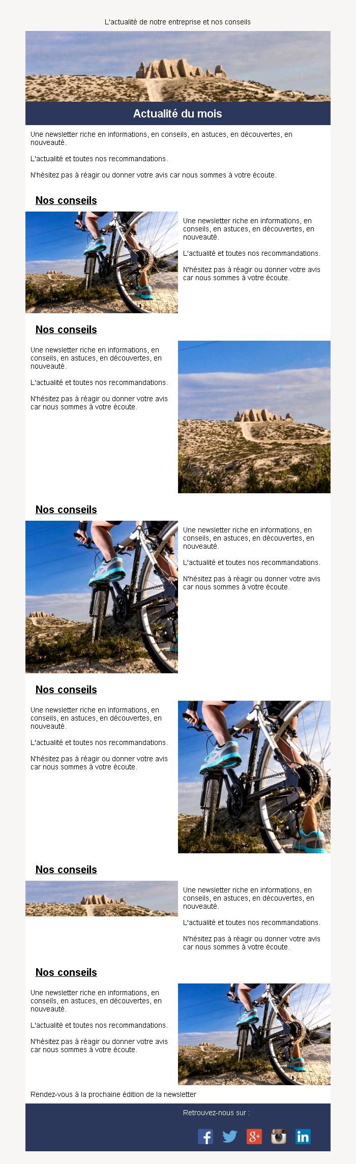 Newsletter mosaïque