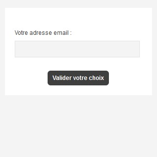 Formulaire d'abonnement Email