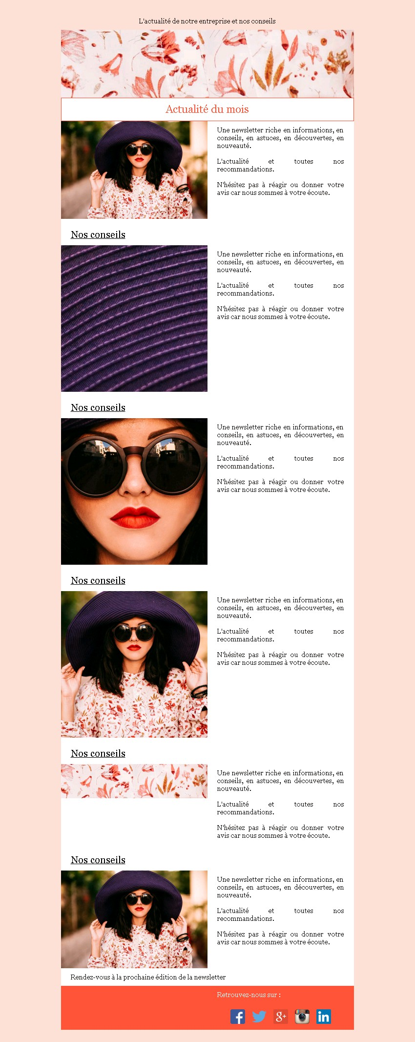 Newsletter sobre et image