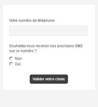 Formulaire de désabonnement SMS