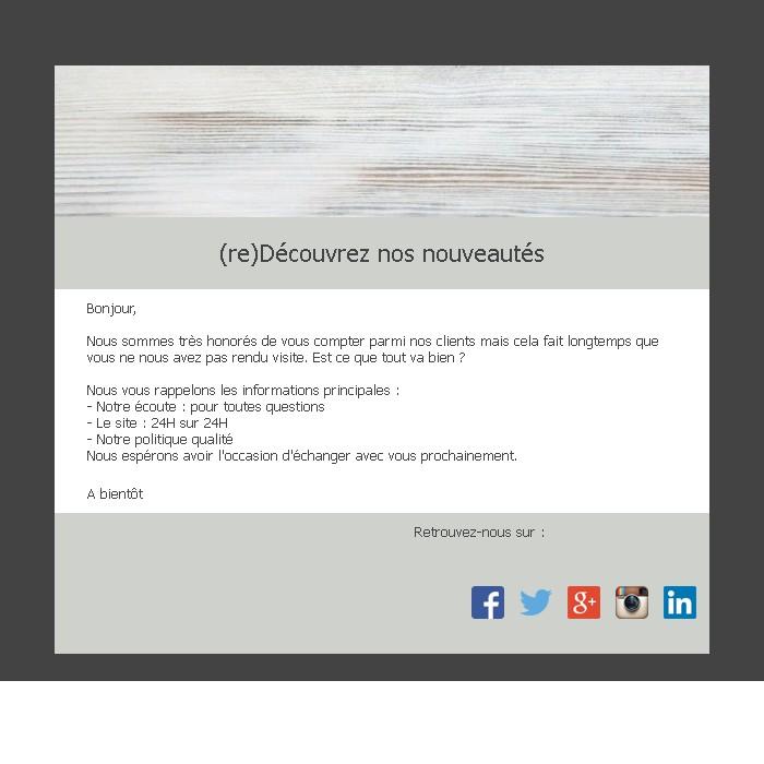 Emailing de relance des inactifs