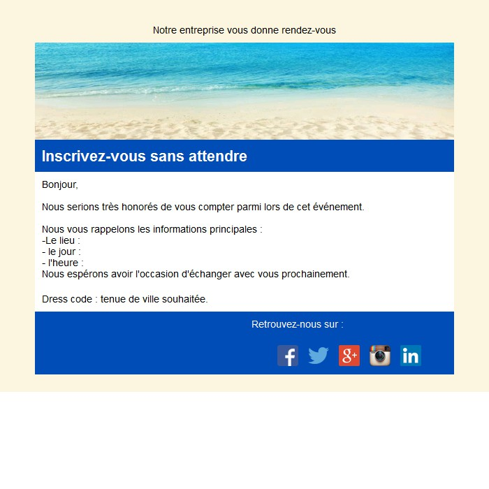Emailing d'invitation
