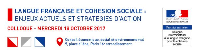 Langue française et cohésion sociale - 18 octobre